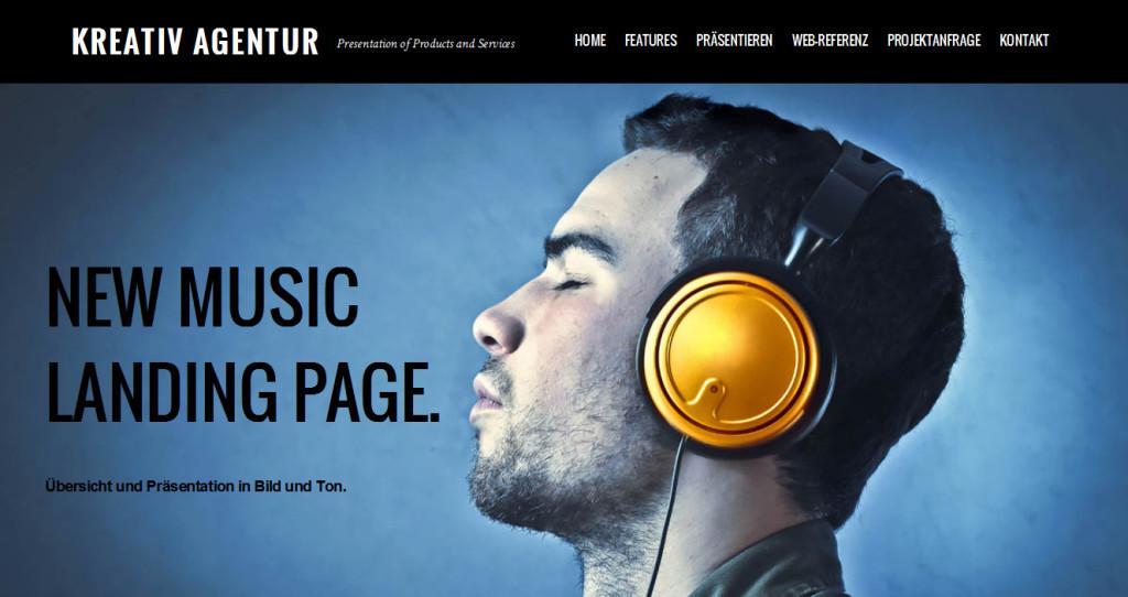 Musik Landingpage
