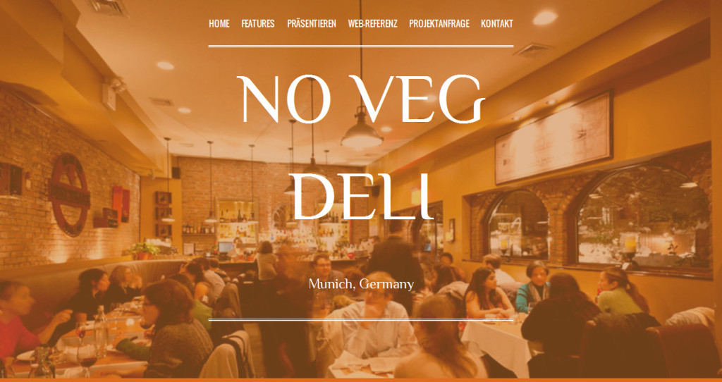 Restaurant Landingpage